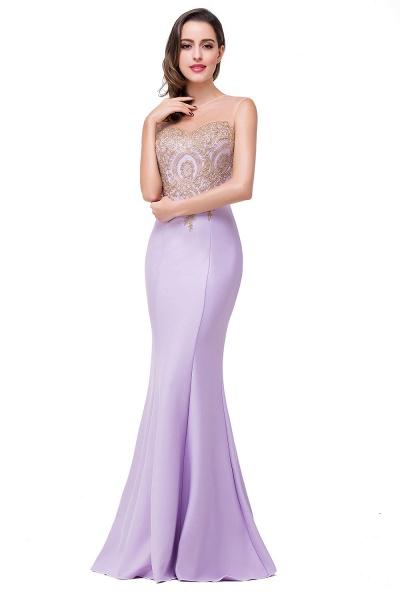 Mermaid Floor-Length Sheer Prom Dresses with Rhinestone Appliques_10