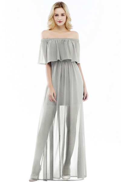 Chic Off-the-shoulder Chiffon A-line Bridesmaid Dress_3