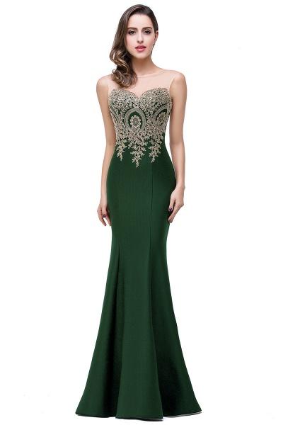 Mermaid Floor-Length Sheer Prom Dresses with Rhinestone Appliques_16