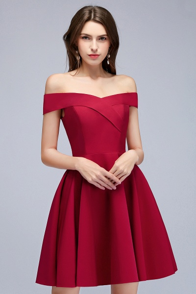 MAMIE | A-line Off-the-shoulder Short Burgundy Homecoming Dresses_9