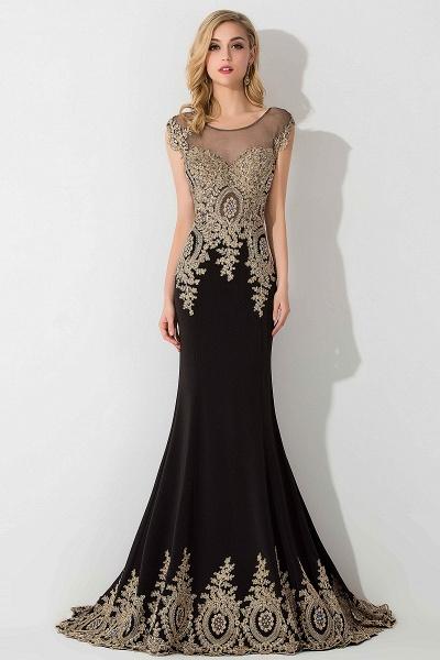 BM0118 Mermaid Appliques Sleeveless Birdesmaid Dress_5