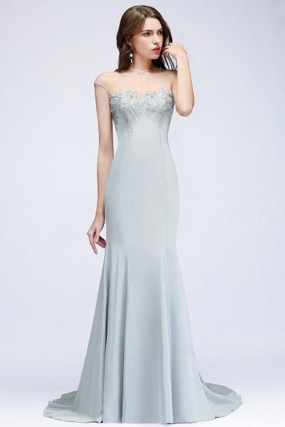 Best Jewel Stretch Satin Mermaid Evening Dress_5