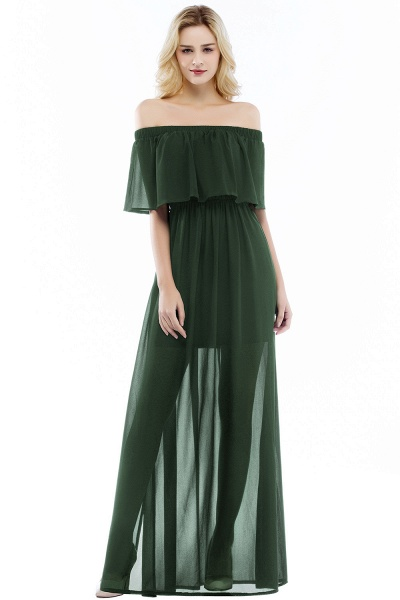 Chic Off-the-shoulder Chiffon A-line Bridesmaid Dress_4