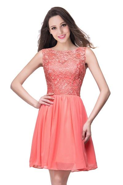 ELIANA | A-line Short Sleeveless Bateau Chiffon Ruffles Lace Top Prom Dresses_10