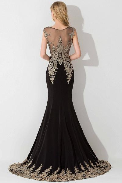 BM0118 Mermaid Appliques Sleeveless Birdesmaid Dress_2