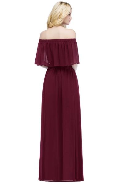 Chic Bateau Chiffon A-line Evening Dress_11