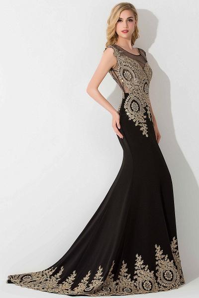 BM0118 Mermaid Appliques Sleeveless Birdesmaid Dress_4