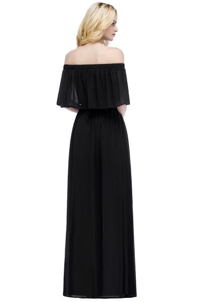Chic Bateau Chiffon A-line Evening Dress_6