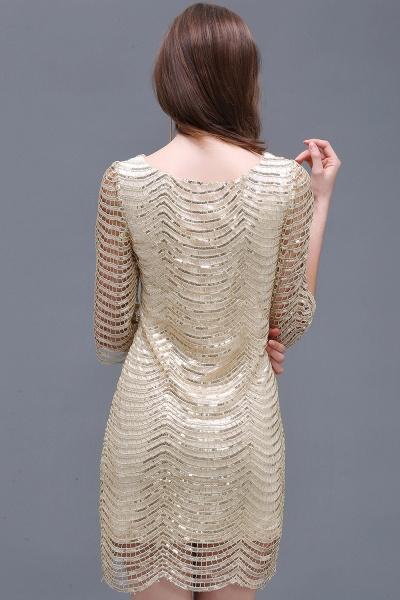 Black Long Sleeve Short Casual Dress_4