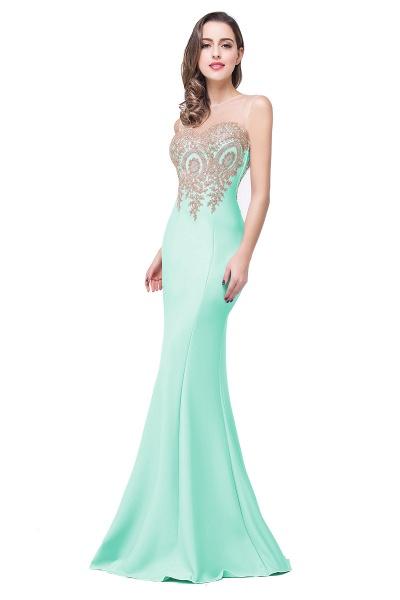 Mermaid Floor-Length Sheer Prom Dresses with Rhinestone Appliques_18