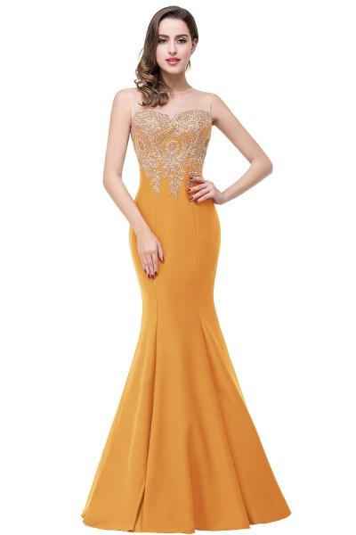 Mermaid Floor-Length Sheer Prom Dresses with Rhinestone Appliques_8