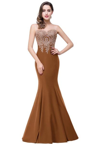 Mermaid Floor-Length Sheer Prom Dresses with Rhinestone Appliques_7