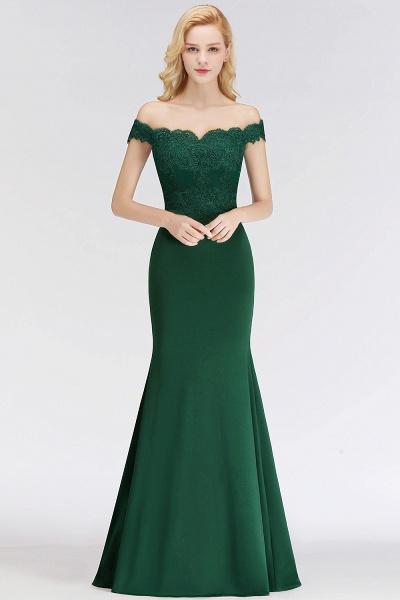 Mermaid Off-the-shoulder Long Appliques Bridesmaid Dress_13