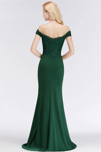 Mermaid Off-the-shoulder Long Appliques Bridesmaid Dress_11