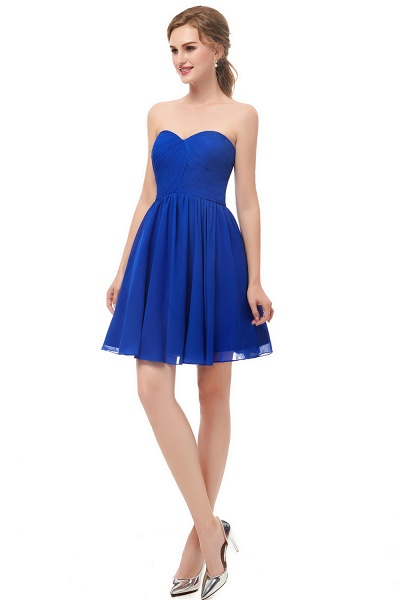 NETTIE | Aline Short Sweetheart Strapless Chiffon Blue Homecoming Dresses_4