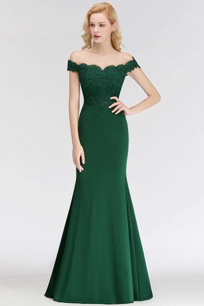 Mermaid Off-the-shoulder Long Appliques Bridesmaid Dress_10