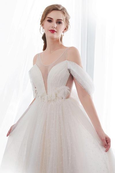 Lace A-line Sleeveless Floor Length Wedding Dresses_6