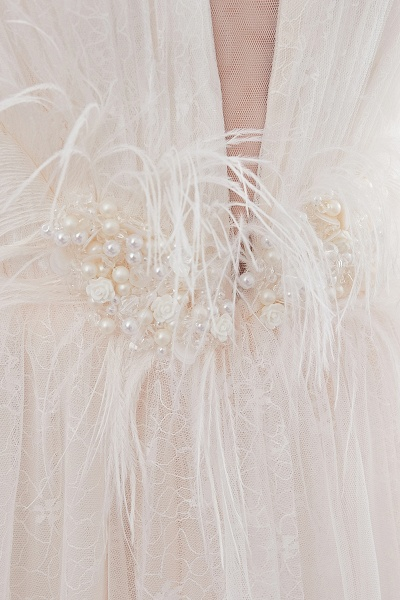 Lace A-line Sleeveless Floor Length Wedding Dresses_13