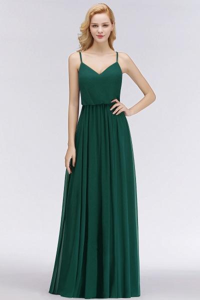 Spaghetti Straps A-line Floor Length V-neck Chiffon Bridesmaid Dresses_8