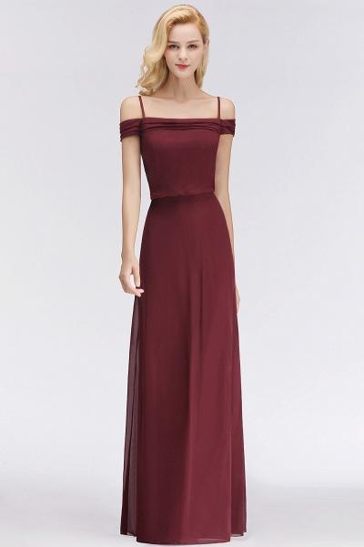 Burgundy A-line Floor Length Off-the-shoulder Bridesmaid Dresses_6