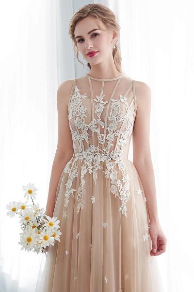 Aline Sleeveless Appliqued Tulle Floor Length Evening Dresses_10
