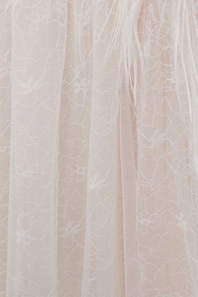 Lace A-line Sleeveless Floor Length Wedding Dresses_12