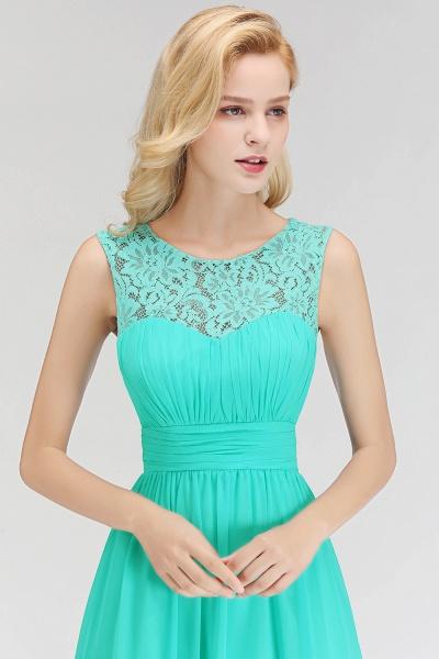 A-line Sleevless Long Lace Appliques Bridesmaid Dress_7
