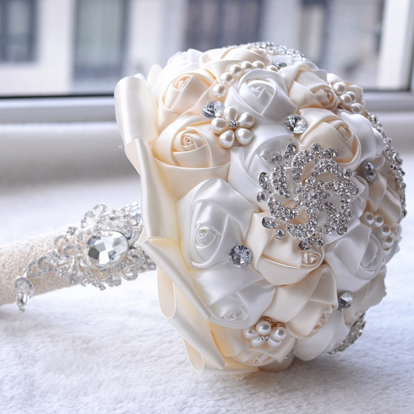 Stunning Beading Wedding Bouquet in Multiple Colors_10