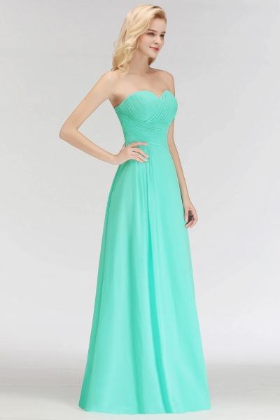 A-line Sweetheart Strapless Floor Length Ruffles Bridesmaid Dresses_4