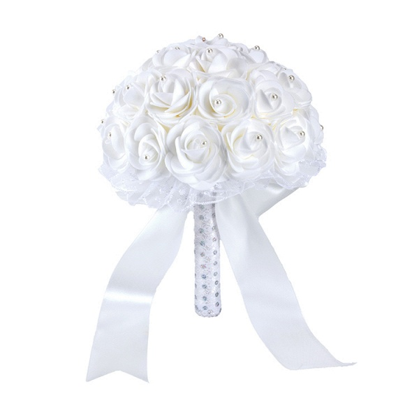 Colorful Rose Beading Bouquet for Wedding_1