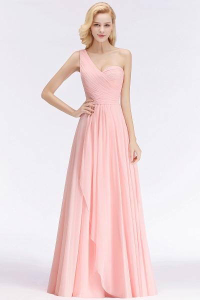 One-shoulder A-line Sweetheart Ruffles Chiffon Bridesmaid Dresses_6