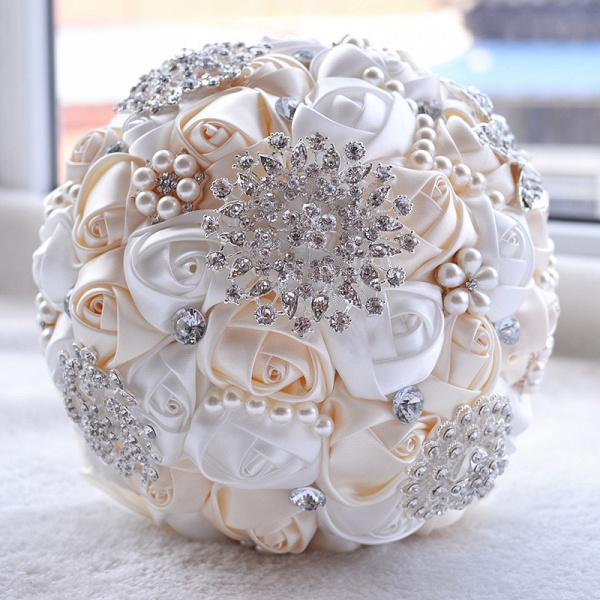 Stunning Beading Wedding Bouquet in Multiple Colors