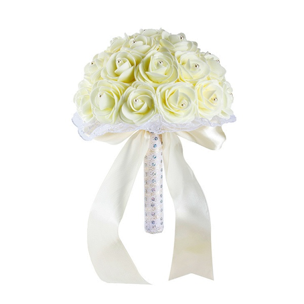 Colorful Rose Beading Bouquet for Wedding_2