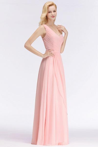 One-shoulder A-line Sweetheart Ruffles Chiffon Bridesmaid Dresses_1