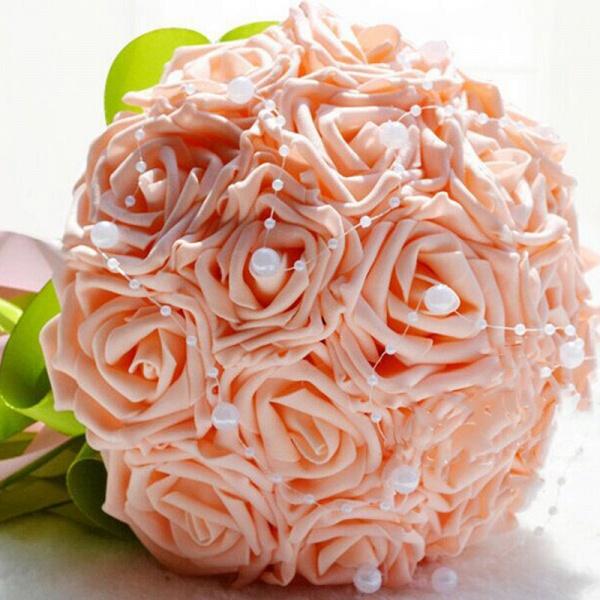 Gogerous Silk Rose Multiple Colors Wedding Bouquet_2