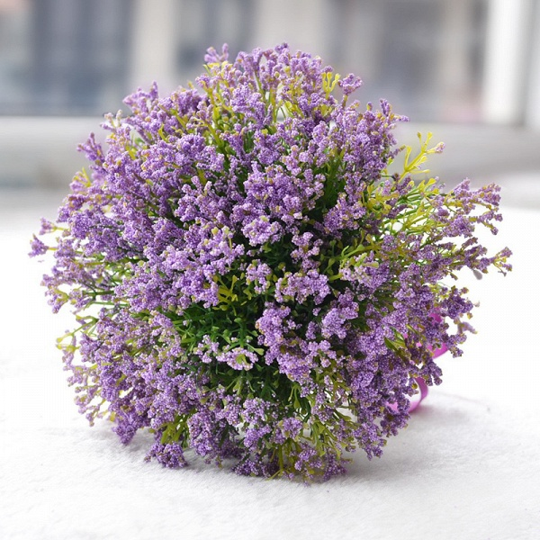 Elegant Real Touch Artificial Lavender Wedding Bouquet_1