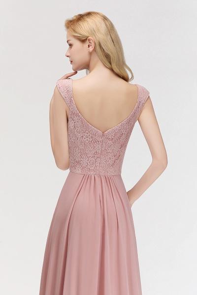MARIA | A-line Long V-neck Sleeveless Lace Top Chiffon Bridesmaid Dresses_4