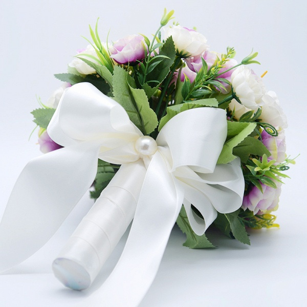 Artificial Rose Wedding Bouquet in Two Colors_8
