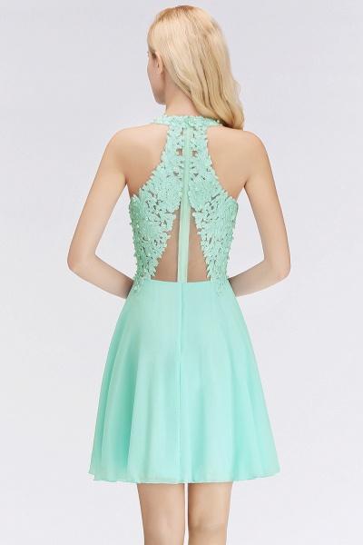 BM0064 V-Neck Short Lace A-Line Sleeveless Bridesmaid Dress_2