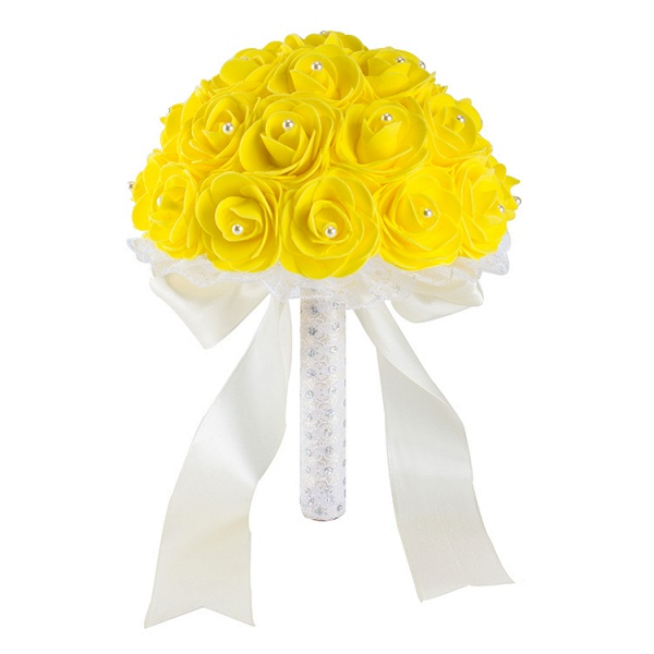 Colorful Rose Beading Bouquet for Wedding_8
