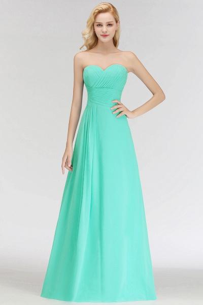 A-line Sweetheart Strapless Floor Length Ruffles Bridesmaid Dresses_1