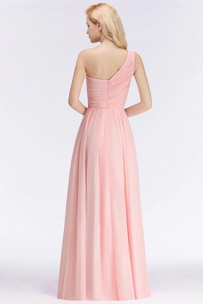 One-shoulder A-line Sweetheart Ruffles Chiffon Bridesmaid Dresses_3