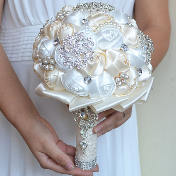 Stunning Beading Wedding Bouquet in Multiple Colors_9