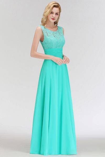A-line Lace Top Floor Length Sleeveless Chiffon Bridesmaid Dress_4
