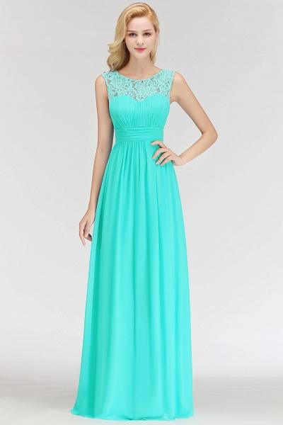A-line Sleevless Long Lace Appliques Bridesmaid Dress_6