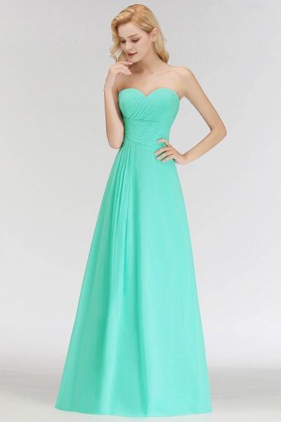 A-line Sweetheart Strapless Floor Length Ruffles Bridesmaid Dresses_8