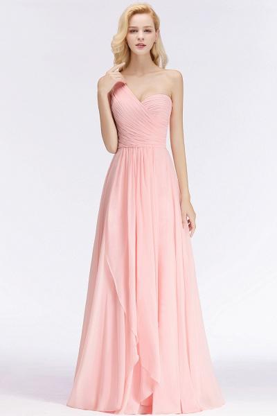 One-shoulder A-line Sweetheart Ruffles Chiffon Bridesmaid Dresses_8