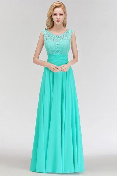 A-line Lace Top Floor Length Sleeveless Chiffon Bridesmaid Dress_8
