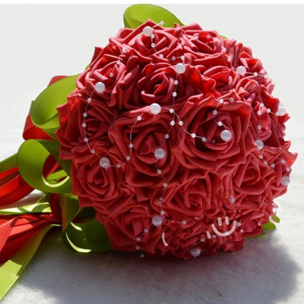 Gogerous Silk Rose Multiple Colors Wedding Bouquet_3