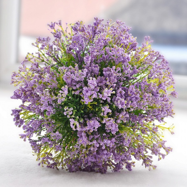 Elegant Real Touch Artificial Lavender Wedding Bouquet_4